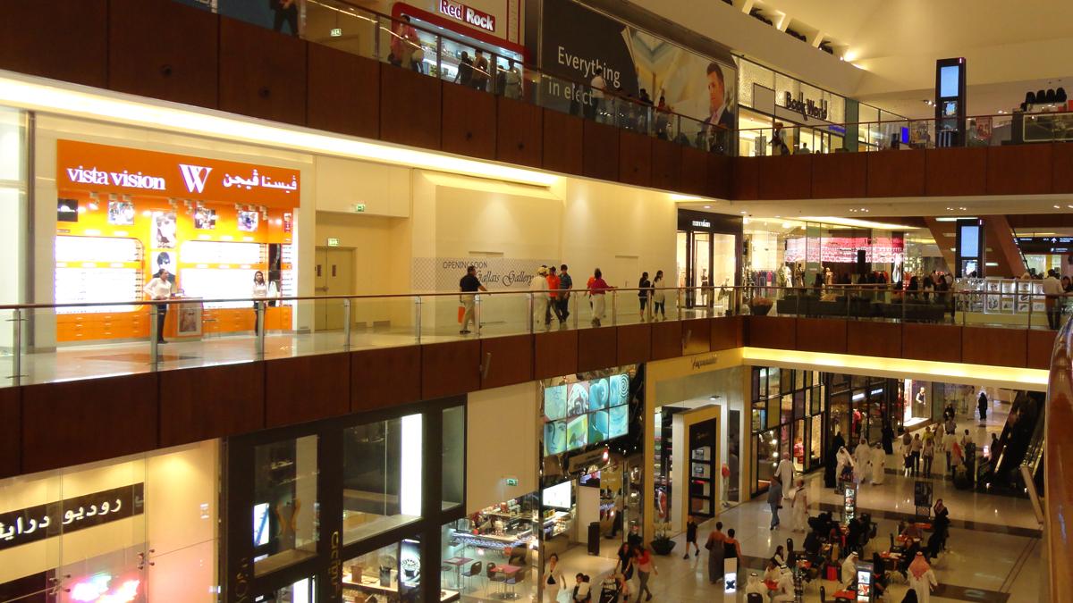 dubai mall 1 - أفضل 3 مولات فخمة في دبي